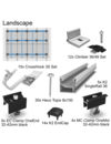 PV Mounting System Kit Tile Roof for 4 Modules