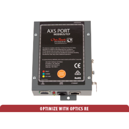 Outback Power OUTBACK AXS Port MODBUS interface