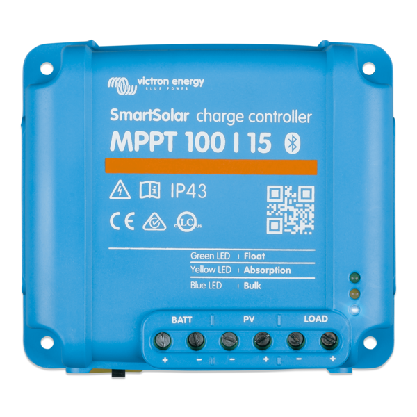 Victron Energy SmartSolar MPPT  75/10, 75/15 & 100/15 - 12/24/48 Volt - Solar charge controller