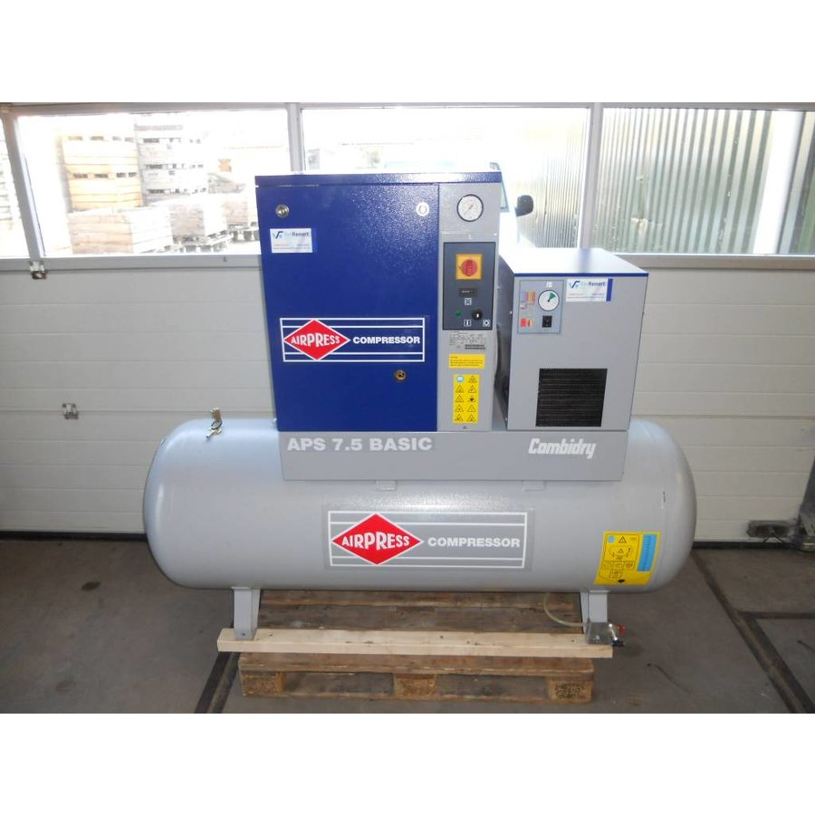 Airpress APS 7.5 schroefcompressor  (VERKOCHT)
