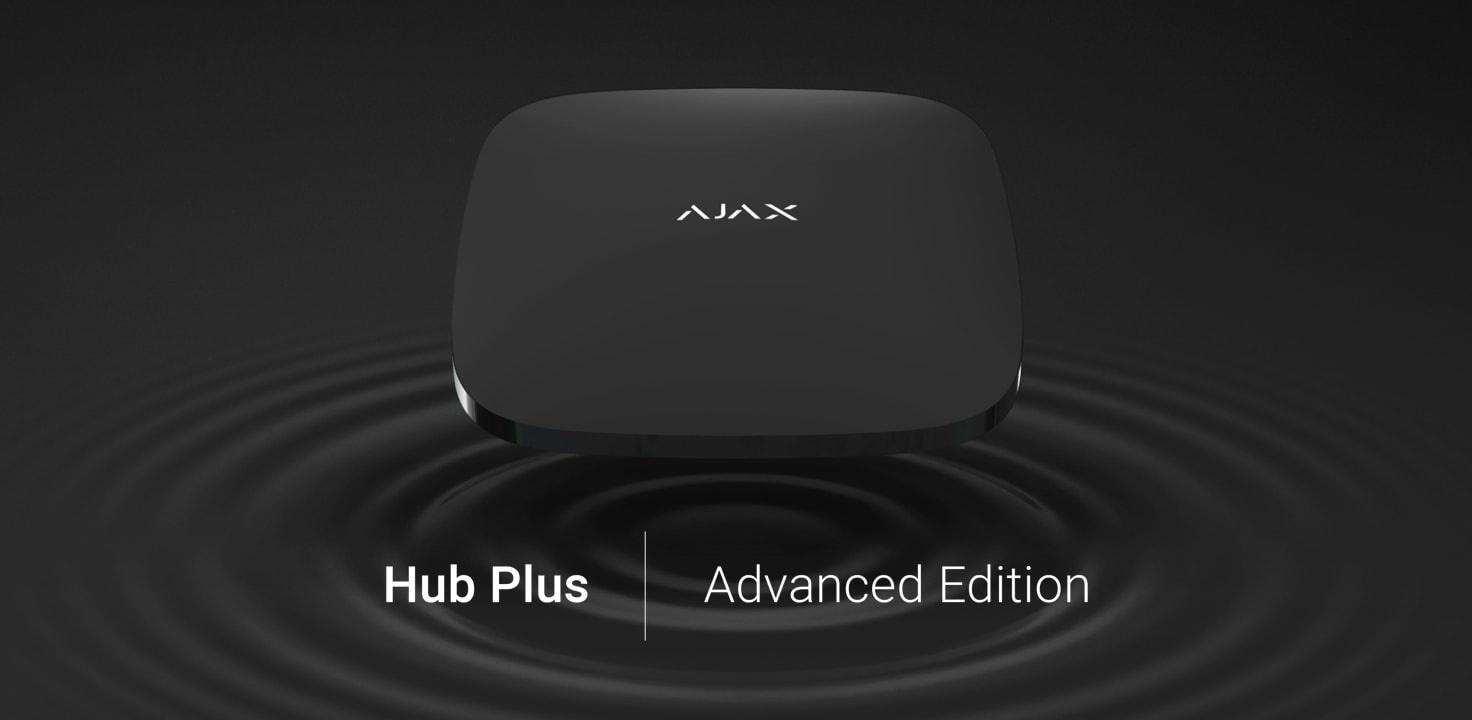 Ajax Hub Plus: de geavanceerde versie van het slimme bedieningspaneel Ajax Hub