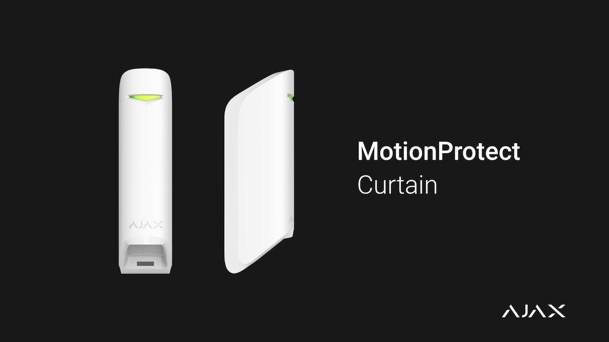 Ajax MotionProtect Curtain : Un détecteur de mouvement à rideau