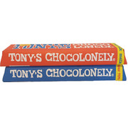 Tony's Chocolonely melk en puur 50gr