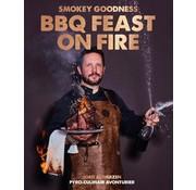 Smokey goodness BBQ feast on fire