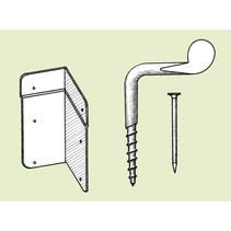Galvanised screw(corner screw) - 10 pieces
