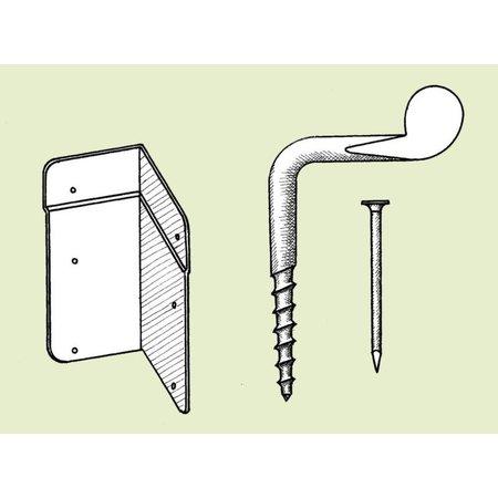 Gegalvaniseerde wervels (hoekschroef) - 10 stuks