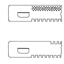 Glissière 380mm (ouvrir/fermer) + conducteurs
