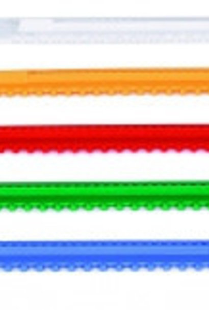 Plastic glissière 445mm+conducteurs (orange)
