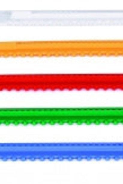 PVC vlieggatschuif  445 mm + geleiders (oranje)