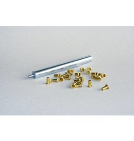 Messing oogjes - 800 stuks 2mm