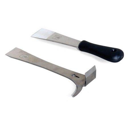 Inox hive tool with ergnomic handle