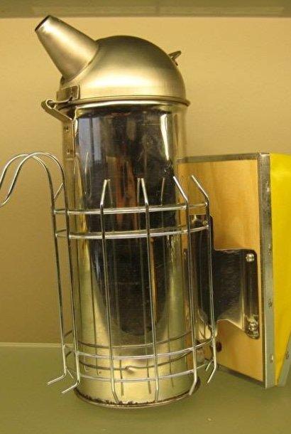 Inox smoker America + heat shield (100mm)
