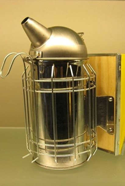 Inox smoker + heat shield (100mm)
