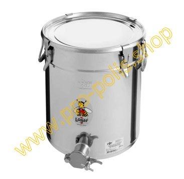 Honey ripener Lega 35 kg with inox cutting tap and hermetic seal