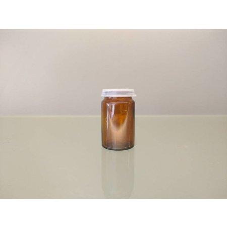Brown pot 25 ml + snap cap (10 pieces
