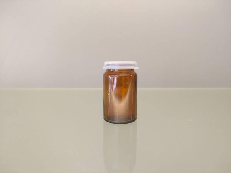 Bruin potje 25ml + snap cap (10 stuks)-1