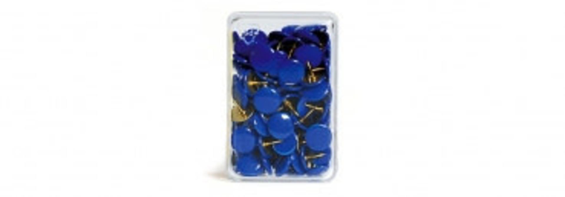 Punaises blauw - 100 stuks