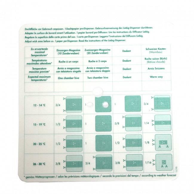 Verdamppapier voor Liebig dispenser - 40 stuks-1