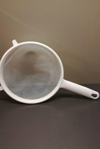 Single plastic sief for honey/wax