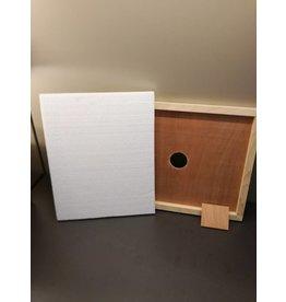 Langstroth - Isolatie voor houten afdekplaat + voedergat