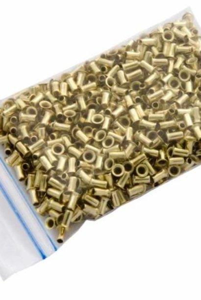 Messing oogjes 3mm doosrsnede - 1000 stuks