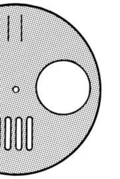 inox ronde schijf klein - 4 opties - per stuk + vijs