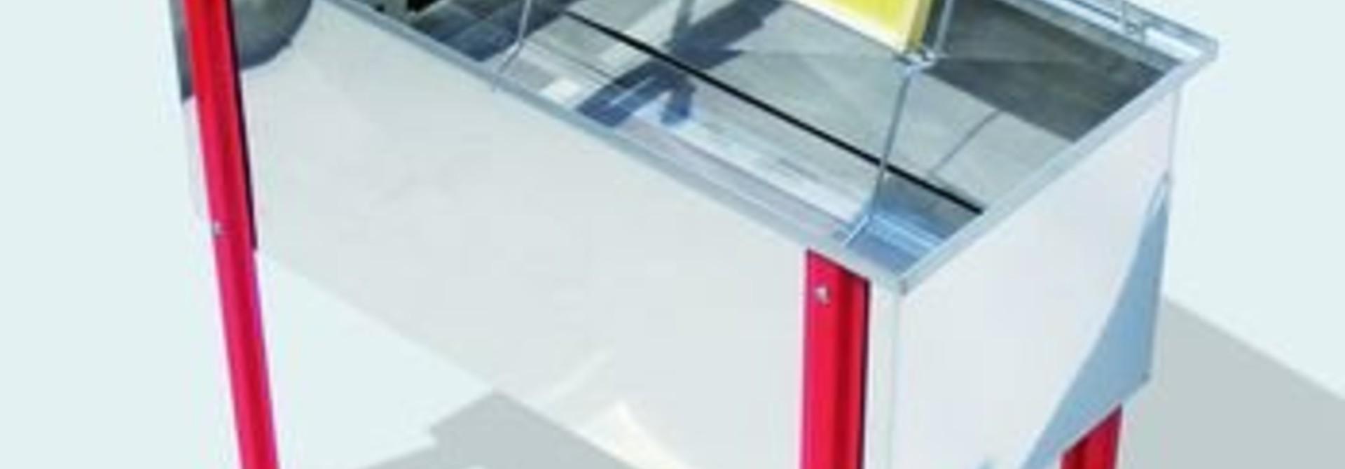 Inox ontzegelbak BANCO 125 cm