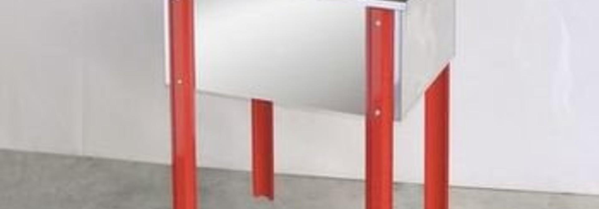 Inox ontzegelbak BANCO 100 cm