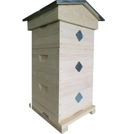 Modified Warré hive with windows - complete