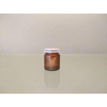 Brown pot 17 ml + snap cap (10 pieces