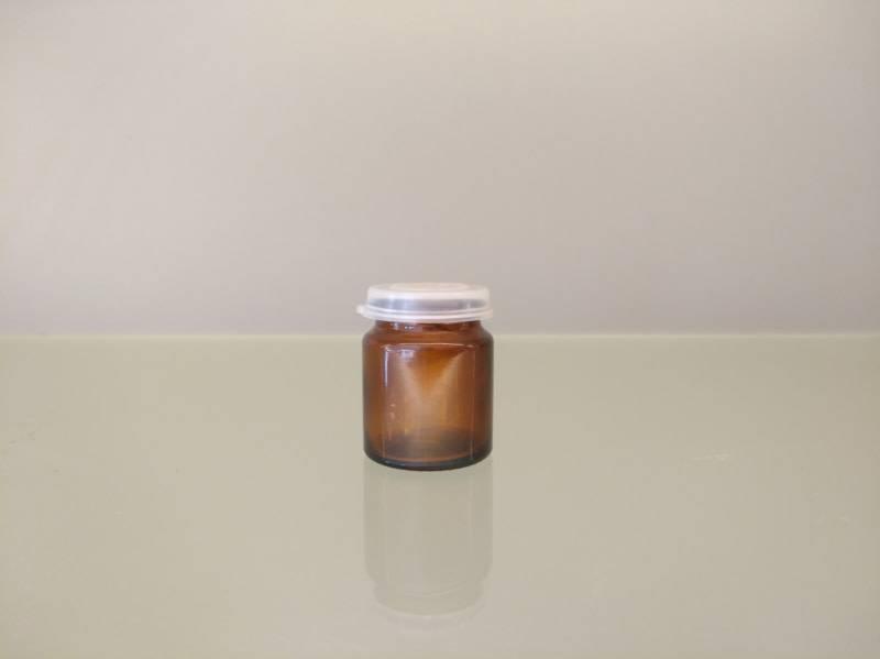 Bruin potje 17ml + snap cap (10 stuks)-1