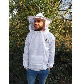Light beekeeper jacket with round veil