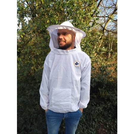 Light beekeeper jacket with round veil