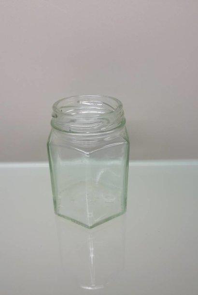 Hexagonaal potje 125 gram ( per 72 stuks)