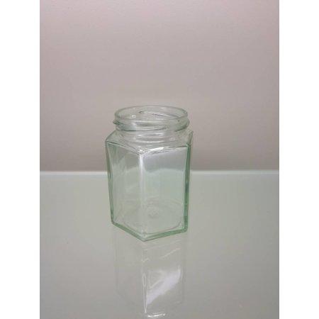 Hexagonaal potje 250 gram ( 36 stuks )