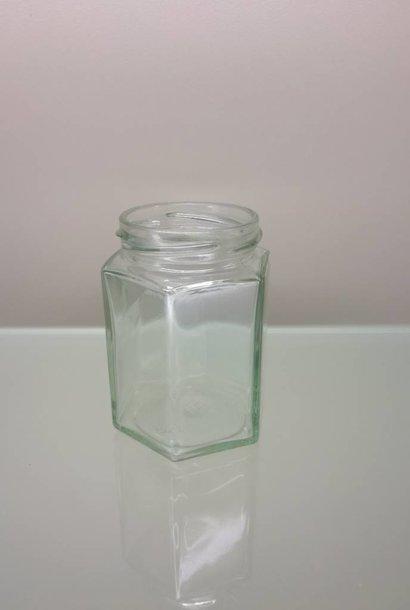 Hexagonal potje 350 gram  ( 30 stuks )