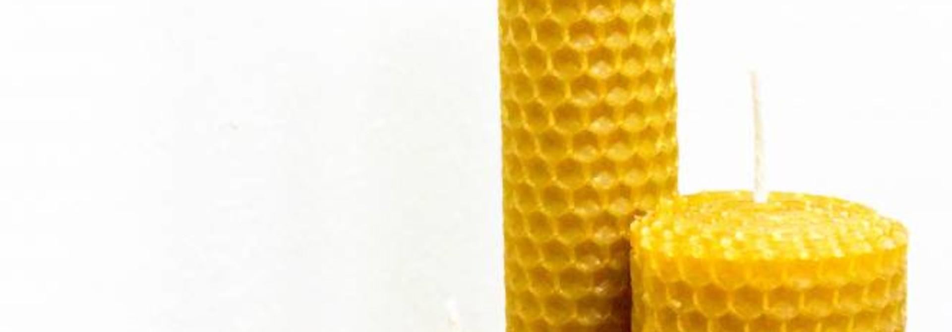 Diverse bijenwaskaarsen - 150g