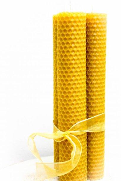 Grandes bougies en cire d'abeille - 150g