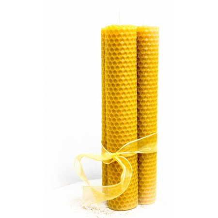 Large beeswax candles - 150g