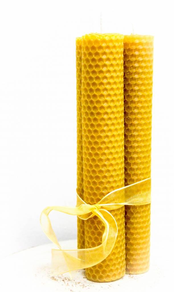 Set grote bijenwaskaarsen