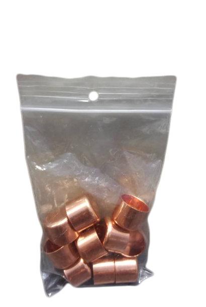 Copper jars (18mm Ø) - 10 pieces