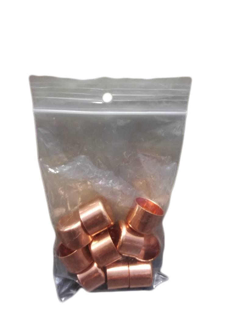 Koperen potjes (18mm Ø) - 10 stuks-1