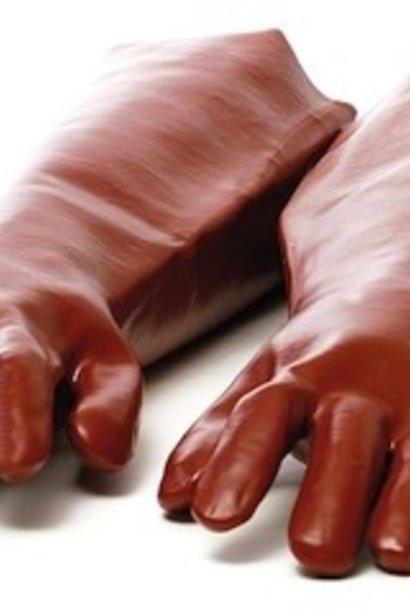 Long gloves against acid