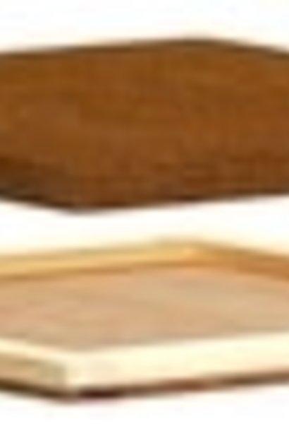 Houten mini plus afdekplaat met isolatie