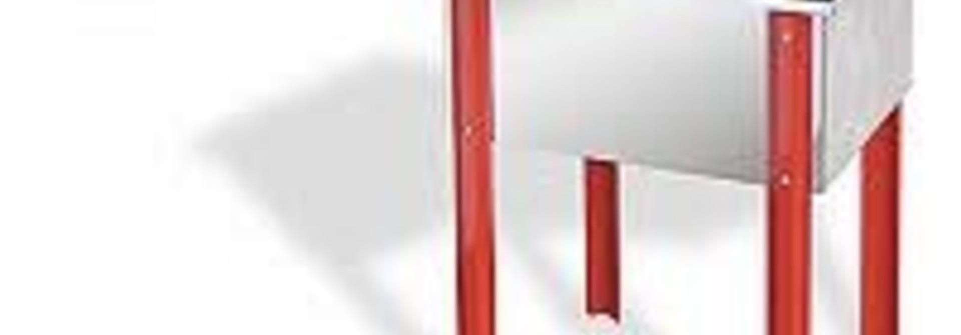 Inox ontzegelbak  65 cm