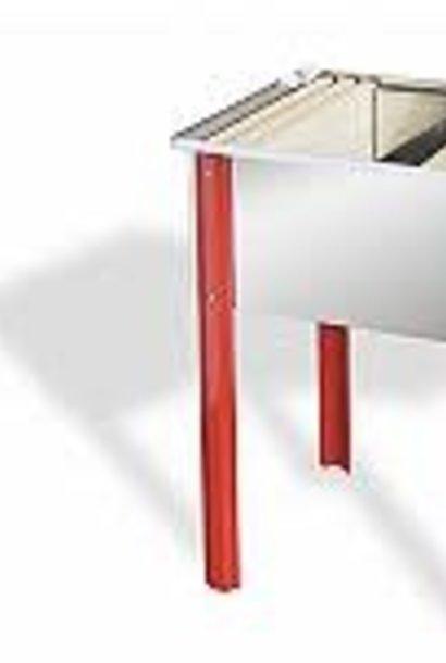 Inox uncappingtray  65 cm