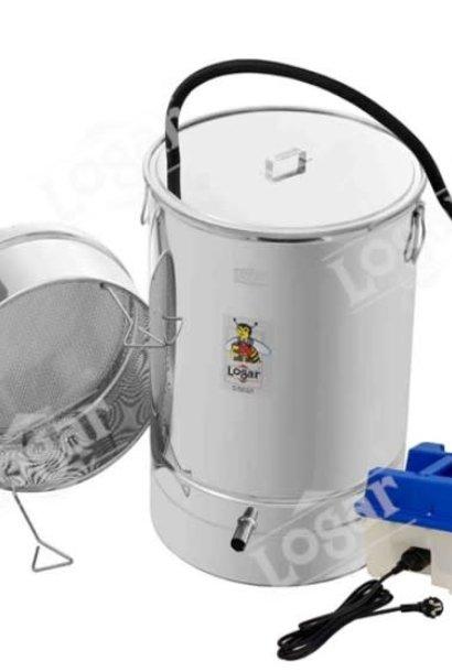 Cire d'abeille fonderie 100 litre avec générateur de vapeur