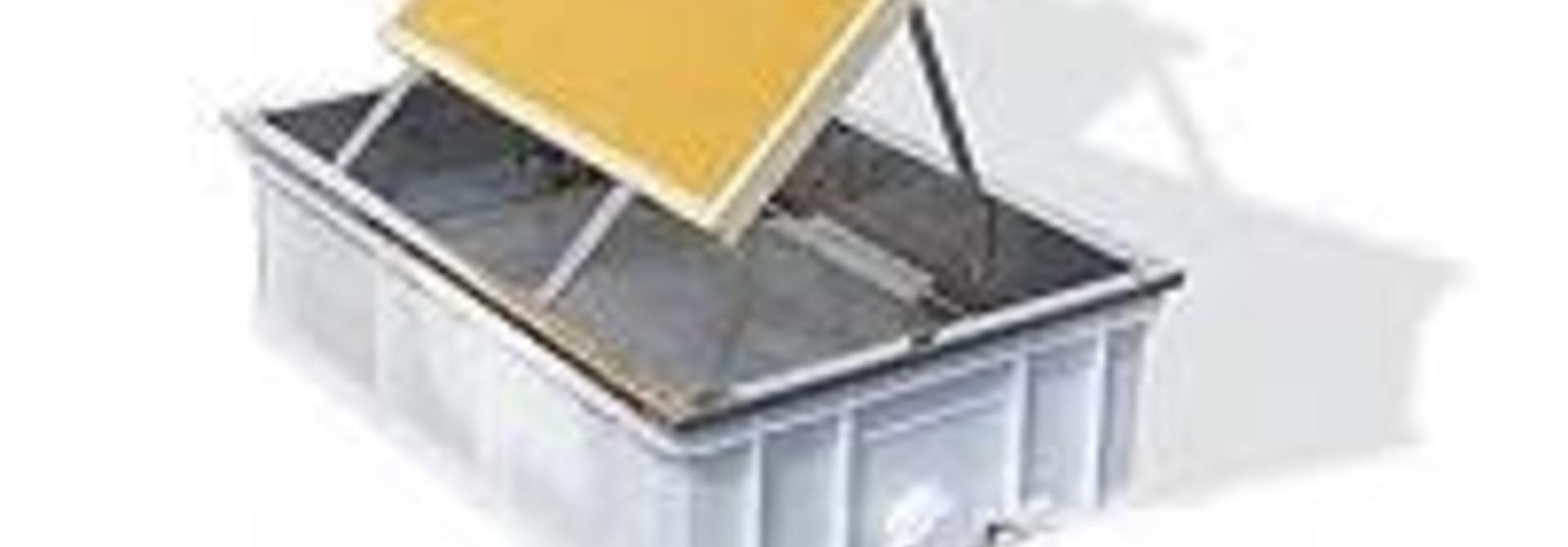 Ontzegelbak zonder PVC kraan