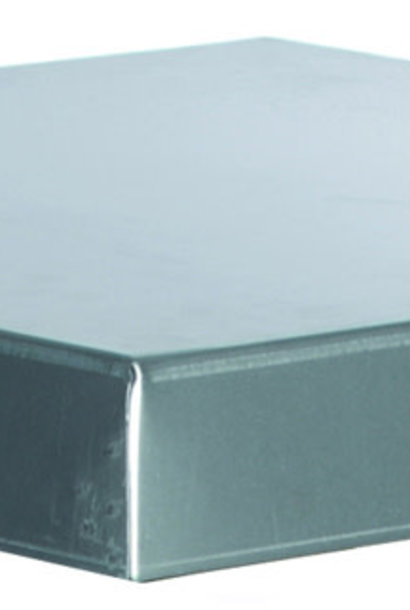 Galvanised lid for DN 10 - wood