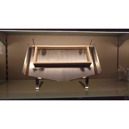 Honingraam display stand - inox